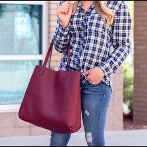 AEO 🦅 Street Style Burgundy Zipper tote bag